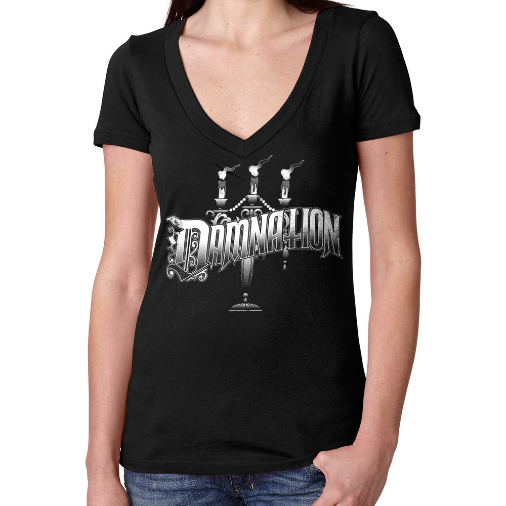 "Image of Candelabra vneck ""it glows!"""