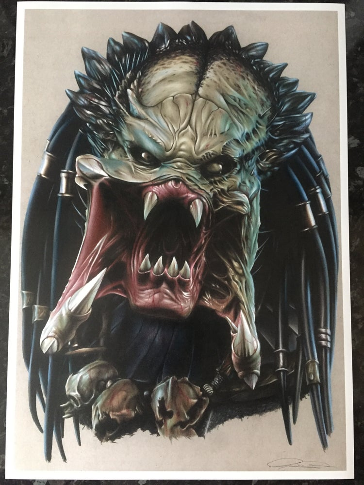 Image of Limited edition predator print (A3)