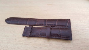 Image of FORTIS GENUINE LEATHER STRAPS,20MM,BLACK,BROWN,NO BUCKLE,NEW