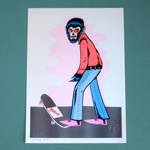 Image of THE WOLFMAN LIMITED EDITION A3 RISOGRAPH PRINT