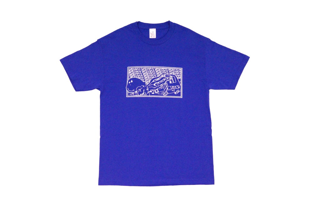 Image of Broski - Kraken Mechanic T Shirt Blue