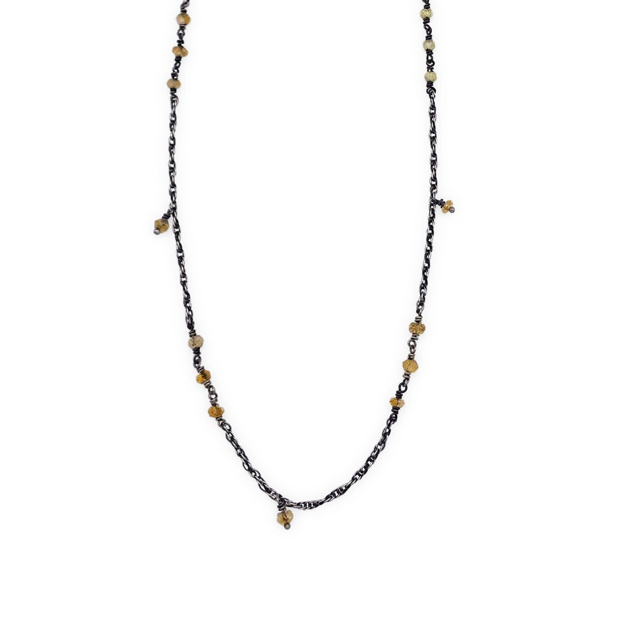 Image of Hand-Beaded Rope Chain Necklace