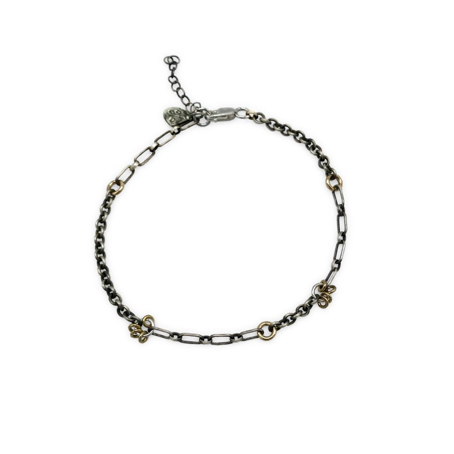 Image of Mixed Chain & Jump-Ring Bracelet