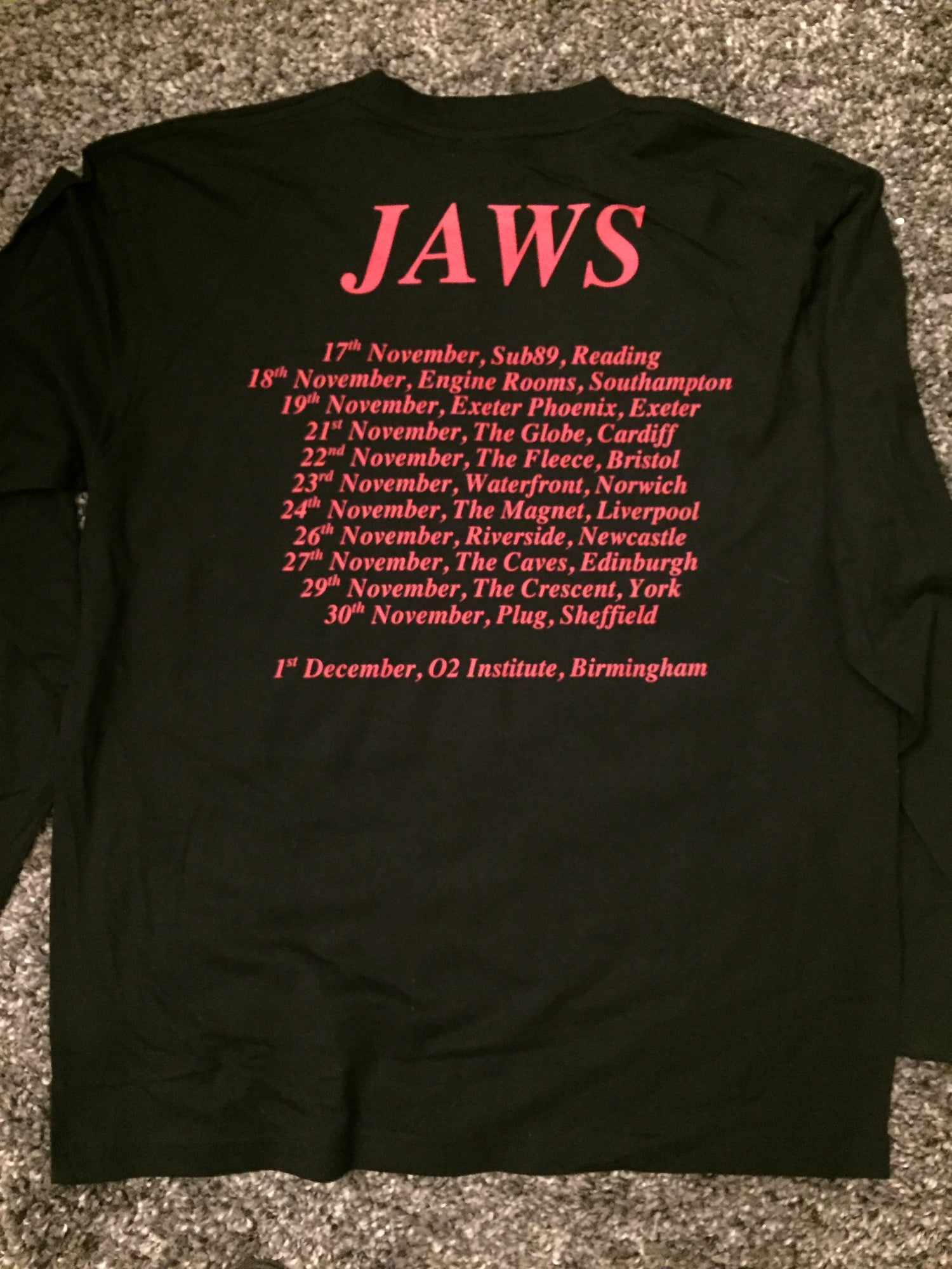 Image of JAWS Tour Long Sleeve