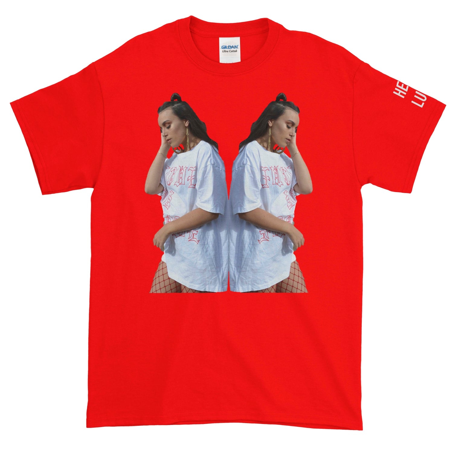 Image of Hello Lulu Tour Shirts RED (Unisex)
