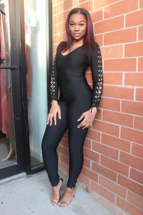 Image of Lace Me Up Jumpsuit