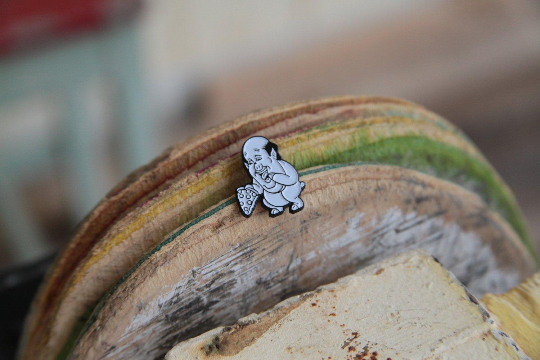 Image of Malone pig lapel pin