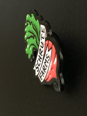 Image of Shrute Farms Enamel Pin 1 1/2""