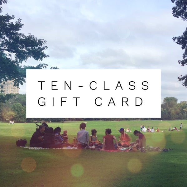 Image of Ten-Class Gift Card