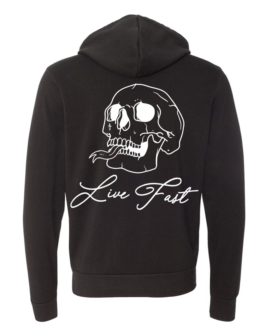 Image of LIVE FAST PULLOVER HOODIE