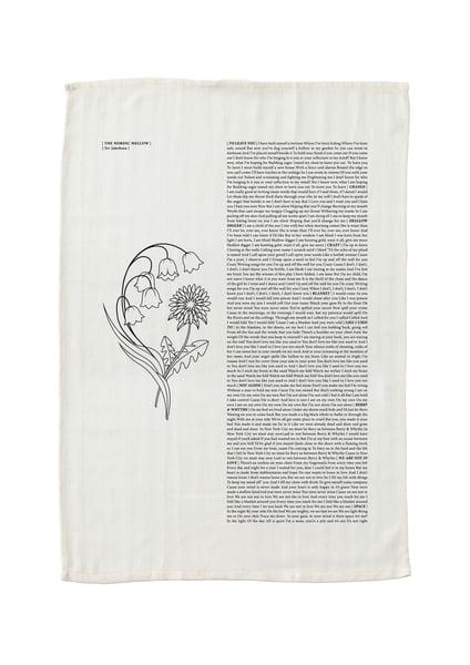 Image of The Nordic Mellow Lyric Tea Towel