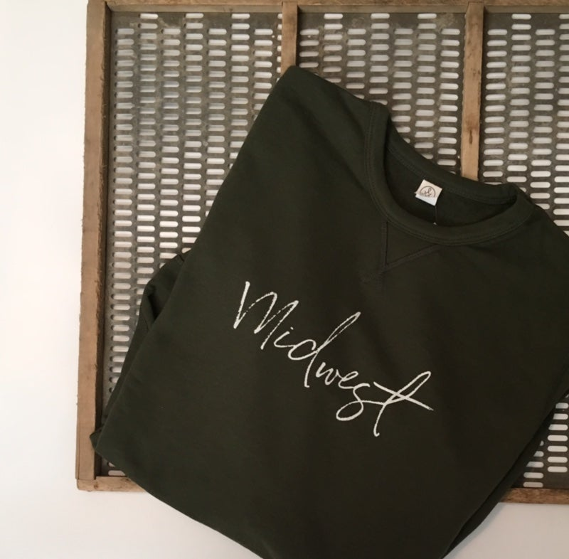 Image of Forest Green Midwest Sweater [reversible]