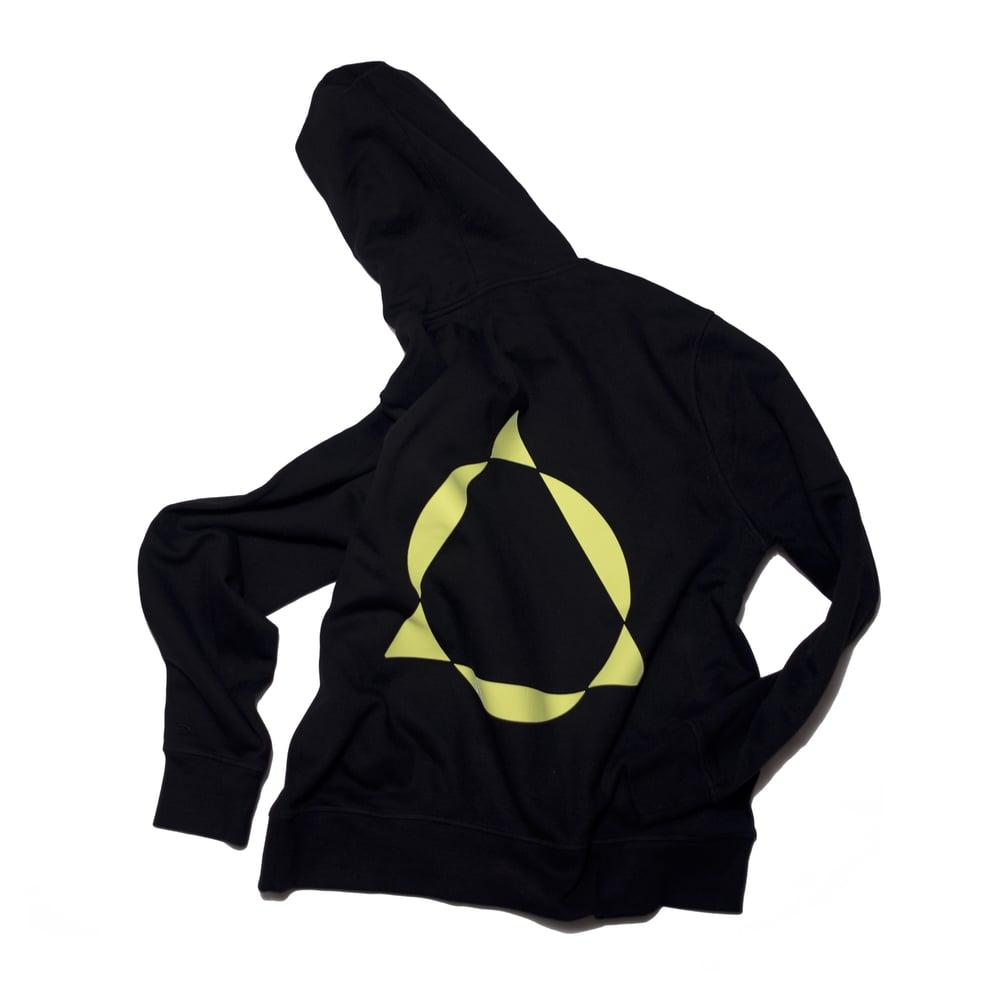 Image of cyber + black box logo hoodie