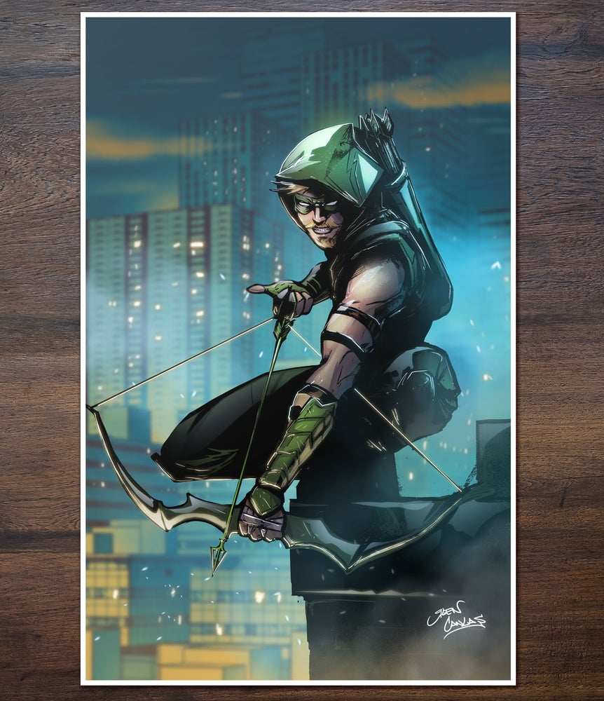 Image of Green Arrow Print