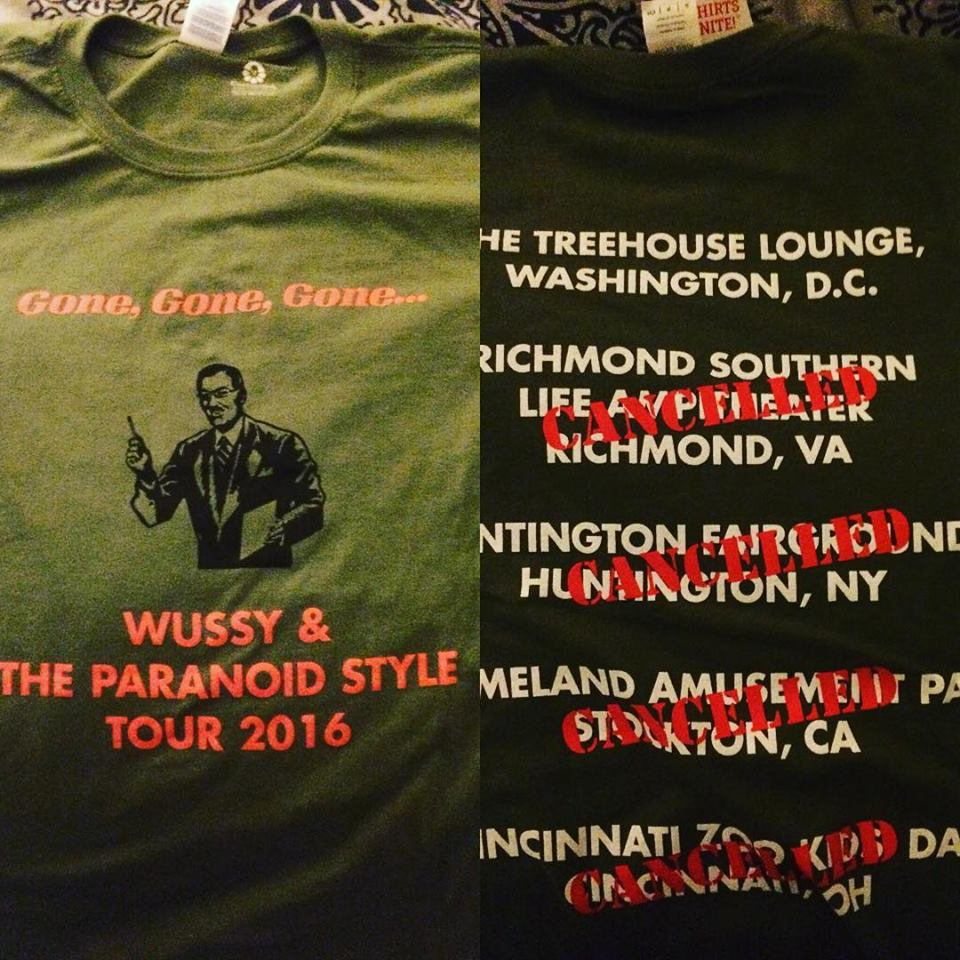 Image of Gone, Gone, Gone Tour Limited Edition Shirt