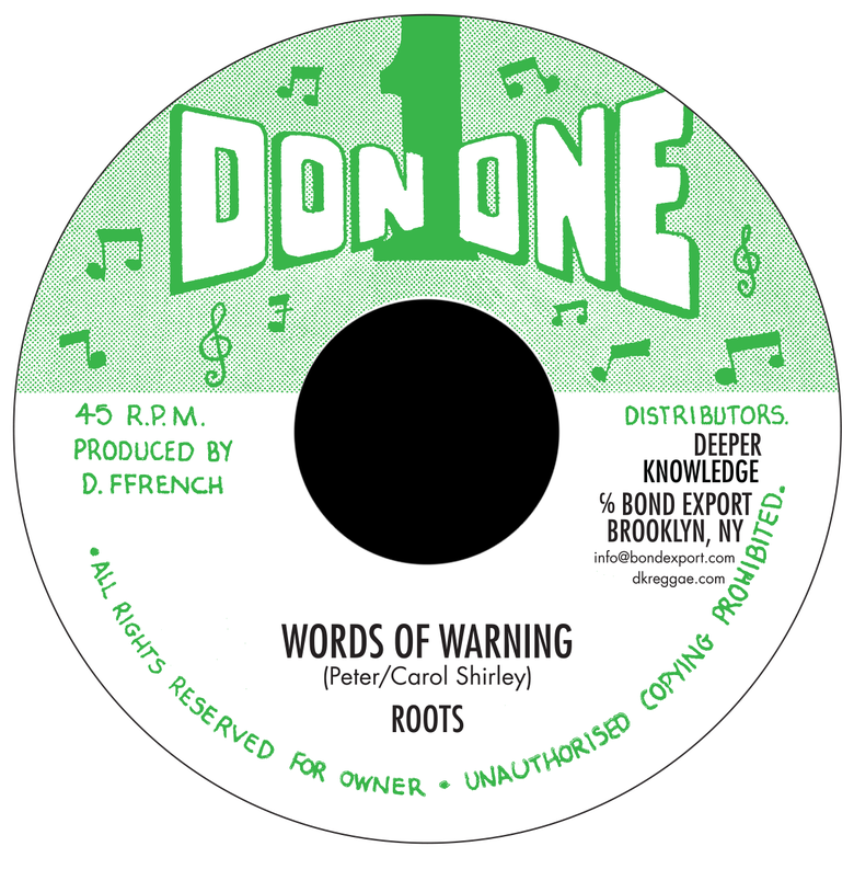 "Image of Roots - Words of Warning 7"" (Don 1)"