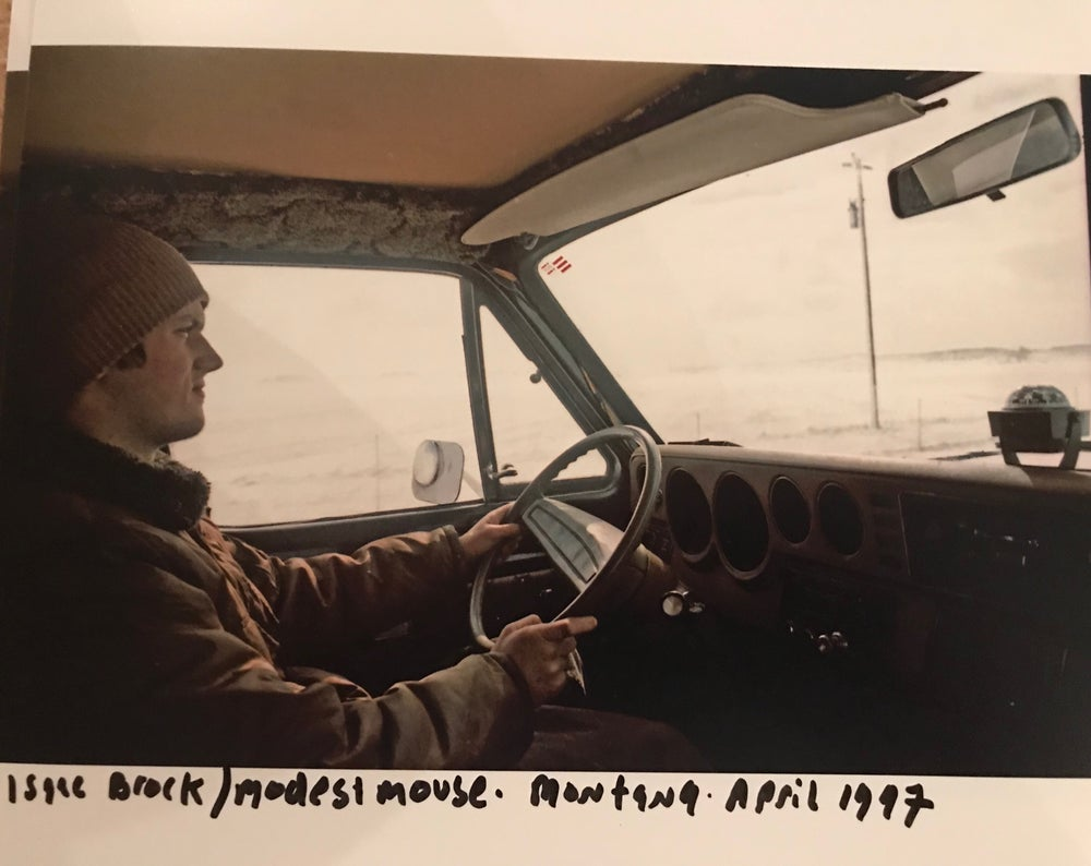 Image of Isaac Brock / Modest Mouse.  Montana the blizzard of April 1992
