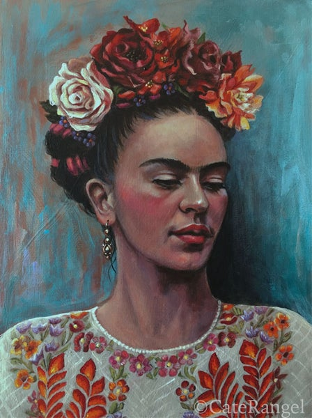 Image of Frida in White Huipil - Limited Edition Archival Print
