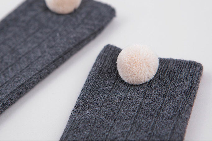 Image of Pom pom high socks