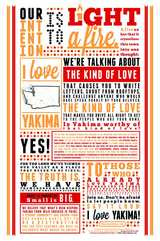 Image of Love Letter - Letterpress Broadside