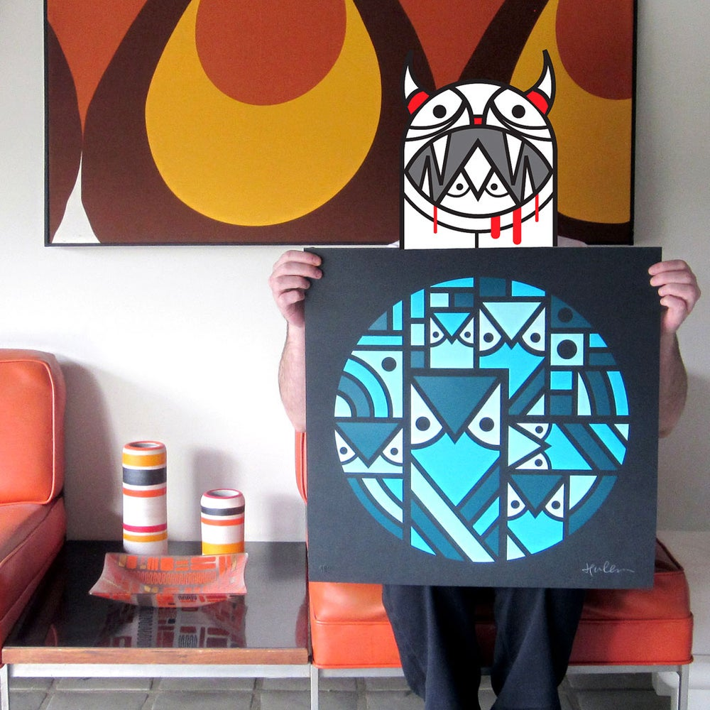 """Image of """"Parliament"""" screen print through Poster Child Prints"""