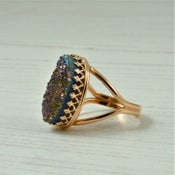 Image of Rose Gold Druzy Ring