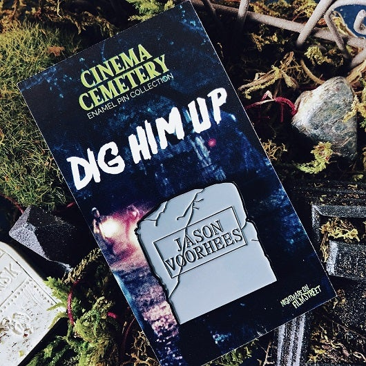 Image of DIG HIM UP Enamel Pin - Cinema Cemetery Collection