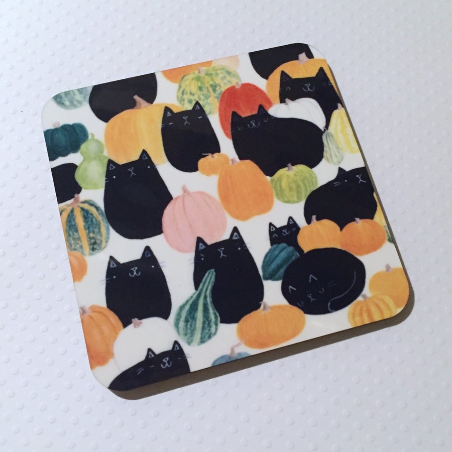 Image of pumpkat patch coasters!