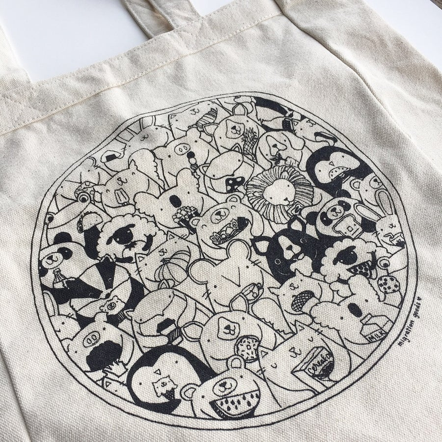 Image of favorite foods tote bag