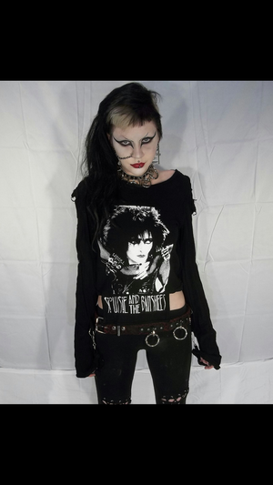 Image of Siouxsie & The Banshees black bondage shirt
