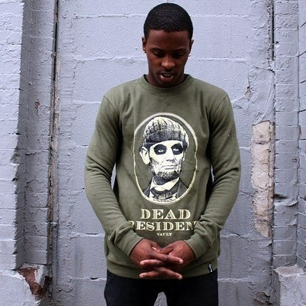 Image of DEAD PRESIDENTS CREW (OLIVE/OFF-WHITE)