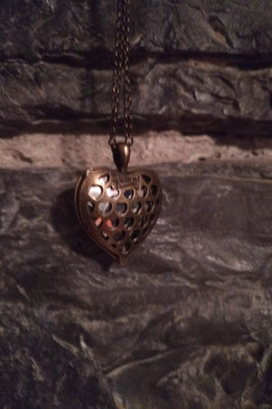 Image of Pendant Red Glass Heart Necklace