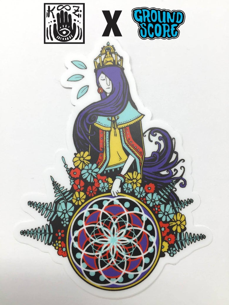 Image of KOOZ - Lady of the Hoop Sticker (5 Pack)