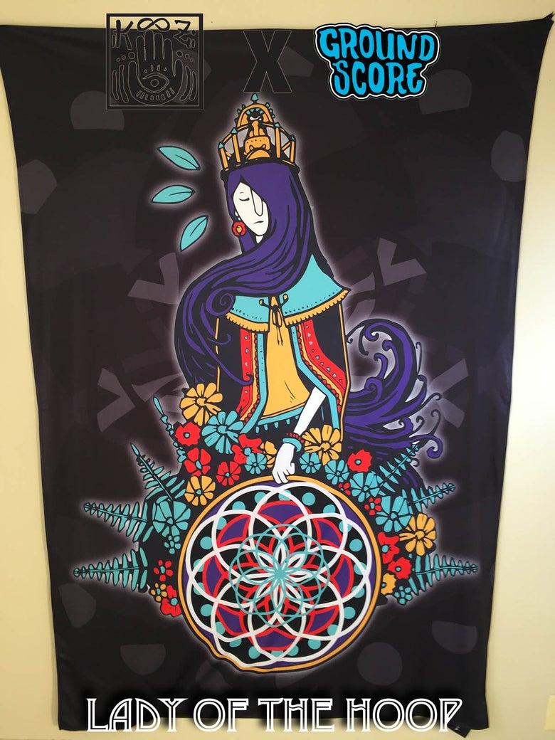 Image of KOOZ - Lady of the Hoop Tapestry (LE 15)