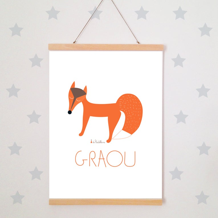 Image of Affiche - RENARD GRAOU (A3)
