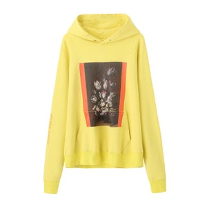 Image of Washed Still Life Statue Hoodie (Neon Yellow)