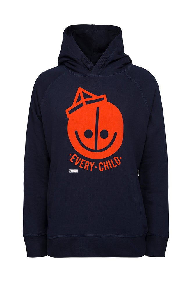Image of HENRIK VIBSKOV Adult Hoodie - Red Barnet Denmark ( Save The Children Denmark )