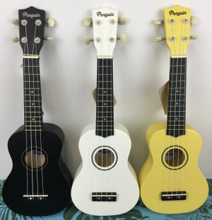 Image of Penguin Painted Wood Soprano Size Ukulele