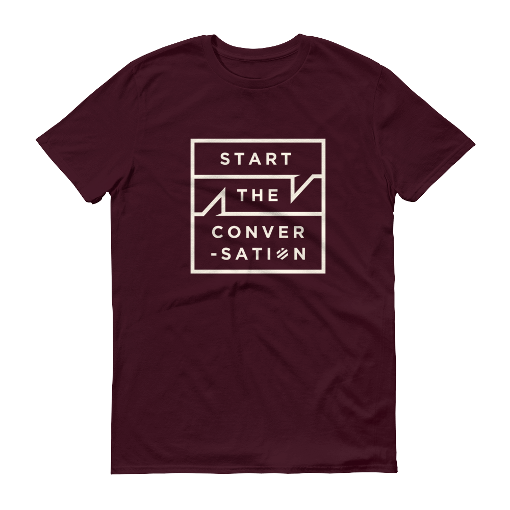 Image of Start The Conversation Maroon Tee