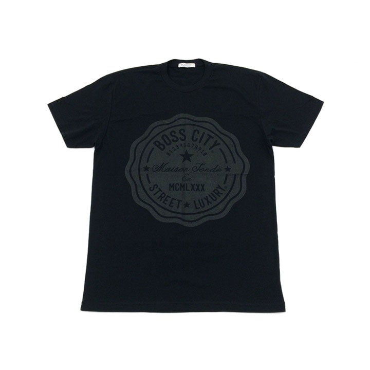 Image of STREET LUXURY® Life Count Black Tee