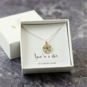 Image of Personalised Gold And Silver Initial Star Necklace