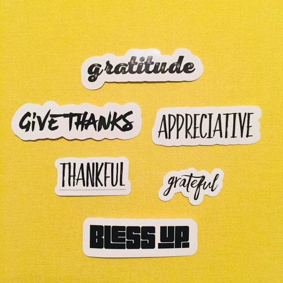 Image of gratitude sticker pack