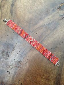Image of Bracelet tissé Miyuki numéro 5- Bracelet loom Miyuki 5 wristband