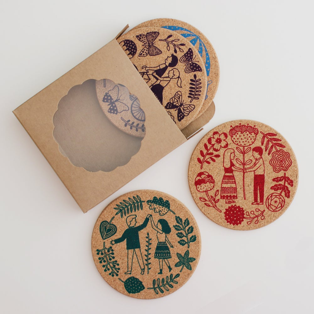 Image of Lovebirds Coaster Set