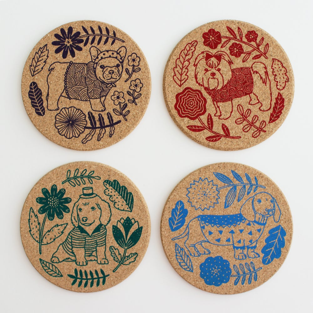 Image of Puppies Coaster Set