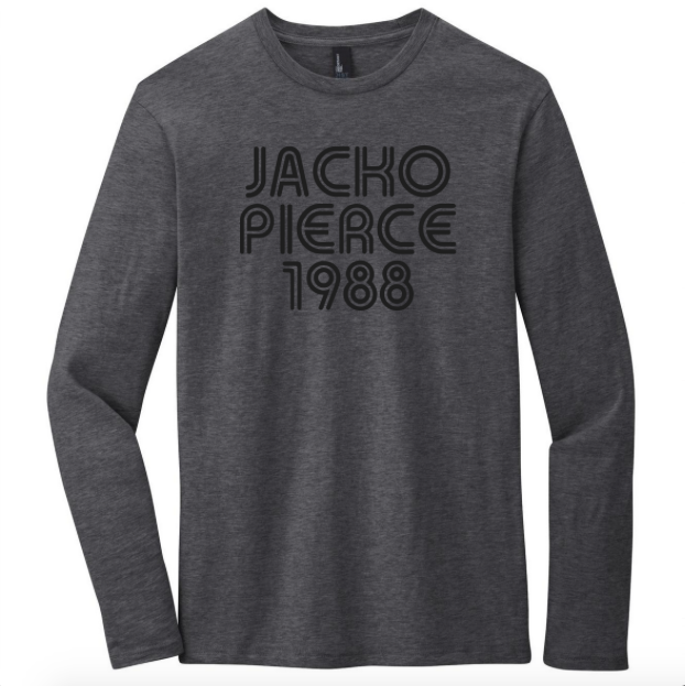 Image of Jackopierce 1988 - Men's/Unisex Cotton - Charcoal Grey Heather L/S Crew