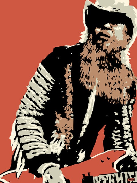 "Image of ""PERKINS 77"" Art Print Series - Billy Gibbons #7719"