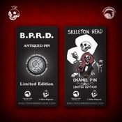Image of Hellboy/B.P.R.D: Skeleton Head and B.P.R.D. Antiqued Logo pin set! FREE U.S. SHIPPING!