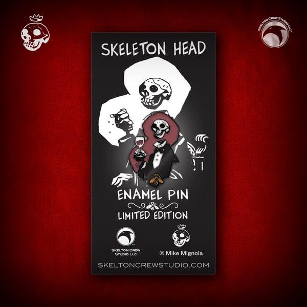 Image of Hellboy/B.P.R.D.: Limited Edition Skeleton Head enamel pin!