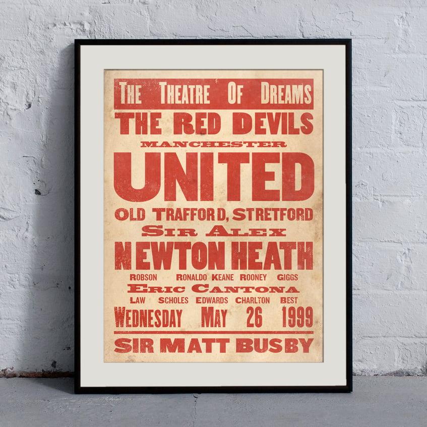 Image of Manchester United 'Ye Olde' Print